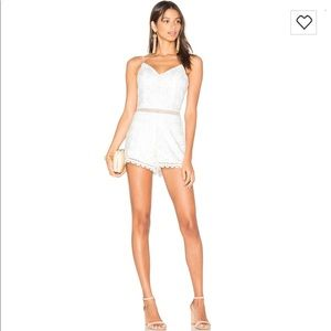 NWT Lovers+Friends Songbird Romper. Ivory